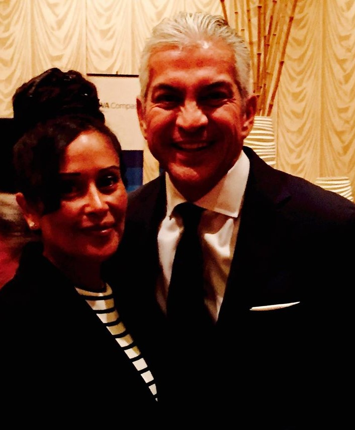 Melissa Rascon with Javier Palomarez at USHCC 2015 Conference